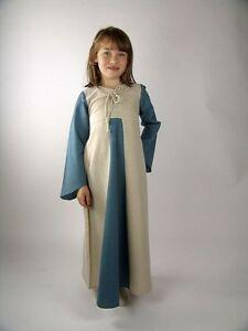 Mittelalterkleid Kinderkleid Blau Natur Mittelalter Prinzessin Kleid Kinder Larp
