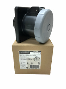 Hubbell Wiring Device-Kellems Hbl460r5w Iec Pin And Sleeve Receptacle,60A,600V