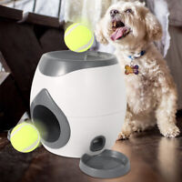 Home Tennis Thrower Fetch Funny Interactive Slow Feeder ABS Pet Ball Launcher AU