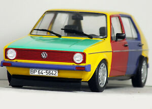 1:18 Custom MK1 VOLKSWAGEN GOLF Harlequin MODIFIED TUNING VW Rabbit GTi Harlekin