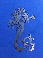 Mermaid X ALUMINUM Metal Wall Art Skilwerx 14 X 9 Nautical