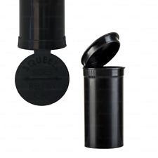 More details for 13/19 dram pop top squeeze pot container smell proof child proof pill tub black