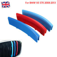 Car Grille Gill M Sport 3 Colour Cover Stripe Clips For BMW X5 E70 2008-2013