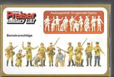 Preiser Unpainted WWII Russian Infantry & Partisans, 12 Figures in 1/87 16530 ST