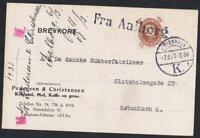 DANEMARK OLD POSTCARD sea obliteration  FRA AALBORG  YEAR 1931