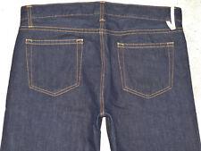Tommy Hilfiger Hombre Orillo Jeans 34 X 33 Oscuro Pierna Recta 100% Cotton Nuevo