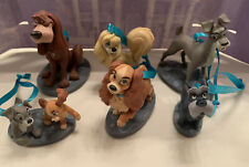 Disney's Lady And The Tramp Christmas Custom Ornament Set Of 6