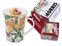 12 Oz Porcelain Mug Gift Box, Floral Motifs by W.Morris, Art Collection