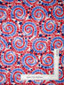 Patriotic USA Star Swirl Silver Glitter Cotton Fabric Traditions By The Yard