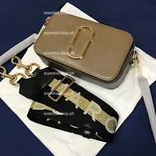 ON HAND Marc Jacobs Logo Strap Snapshot Small French Grey Multi Camera Bag