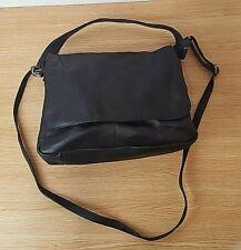 Black Leather Gianni Conti Italian Cross Body bag Satchel