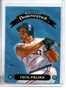 1992 DONRUSS CECIL FIELDER DIAMOND KINGS