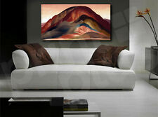 Red Rust Hills by Georgia O'Keeffe Nature Reproduction Canvas Art Poster Print