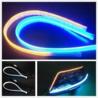 Ultra Thin DRL Car Tube LED Strip Daytime Running Light Headlight Eyebrow Light@