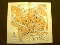 Pianta di Firenze Rara mappa o carta geografica del 1890 Gustavo Strafforello