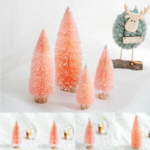 Small Artificial Christmas Tree Decoration Flocking Fake Tree with Wooden Stand