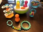 Fat+Brain+Toys+Lot+Spinning+Pins%2C+Dizzy+Bees+And+Pipsquigz+Loops+And+Teether