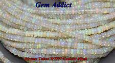 Genuine Ethiopian Welo Opal Rondelles, 15 Bead Lot, 3.5-4.5mm Nice Color Flash