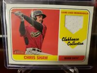2018 Topps Heritage Minor League Edition Clubhouse Collection Relics Chris Shaw