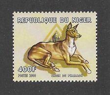 Dog Art Full Body Portrait Postage Stamp Pharaoh Hound Niger 2000 Mnh