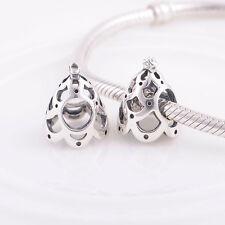 Árbol de Navidad pino sólido de plata esterlina encanto grano se adapta a S925 pulsera europea