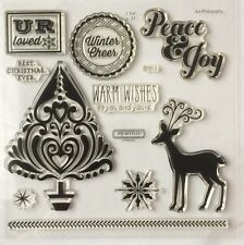 Close To My Heart - Acrylic Stamps D1613 BEST CHRISTMAS BNIP  (My Acrylix )