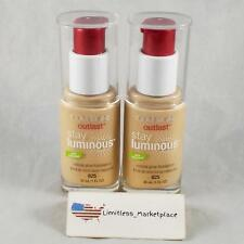 (2) CoverGirl Outlast Stay Luminous Natural Glow Foundation 1 oz EA #825