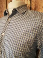 Mens Ted Baker Check Floral Shirt Size 4 42 Chest