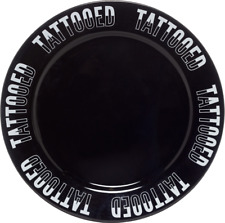 4705 Tattooed Dinner Plate Porcelain House Ink Kitchen Sourpuss Punk Decor Dish