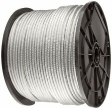 """Clear Vinyl Coated Wire Rope Cable, 3/64"""" - 1/16"""", 7x7, 250 ft reel"""