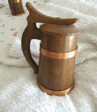 -Handgearbeiteter Holz Bierkrug/Humpen v.Ludwig Weidmann m.Spieluhr-rar-