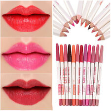 Top Waterproof Professional Lip Liner Pencil Pen Long Lasting Makeup 12 Colors