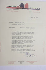 1934 Lamson Goodnow I F Murdock Signed Quincy MA Molded Bakelite Ephemera L269A