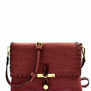 Knot Accent Matte PU Leather Whipstitched Flap Boho Clutch Crossbody Bag