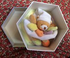 Doudou et Compagnie Ours Nuage de couleurs plat carré