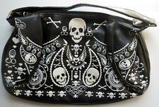 Loungefly Bandana Skull Purse Handbag Black White