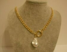Freshwater Pearl Golden Necklace Gift Boxed