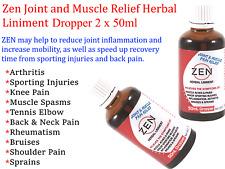 Martin & Pleasance ZEN Natural Herbal Liniment Dropper 2 x  50ml * Arthritis
