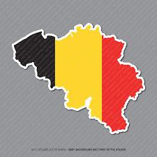 Etiqueta engomada de la bandera de Bélgica Mapa-Coche-Laptop-Macbook Notebook - 2950