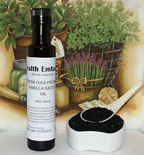 FRESH pressato a freddo Nigella Sativa OLIO 250ml-sanità ambasciata-BLACK Seed