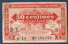 ALGERIE - 50 centimes - Pick n° 100 de 1944 en NEUF 2T Série I1 N° 181,933