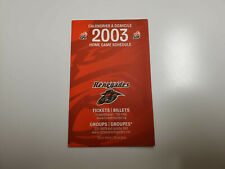 Rs20 Ottawa Renegades 2003 Cfl Football Pocket Schedule Card - Molson/Rona