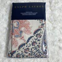 Ralph Lauren Islesboro 1 Euro Pillow Sham Paisley Floral Cream Blue Rust New