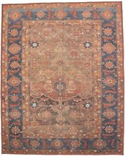 Brown Rusty Red 8X10 Machine Made Distressed Area Rug Home Art Deco Carpet
