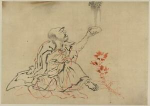 Handaka sonja,Rakan,Arhats,Disciple of Buddha,Photo of Ukiyo-e,Japan,c1850 1791