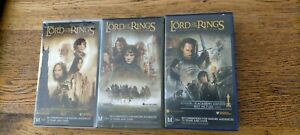 Lord of the Rings Trilogy (VHS tapes, 2002-2004) Peter Jackson award winning VGC