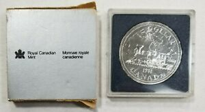 1981 CANADA Transcontinental Railroad Uncirculated Silver Dollar