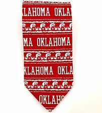 Oklahoma Sooners Neck Tie Basketball Coaches vs Cancer Red Silk Hand Made