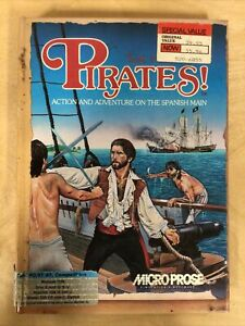 """Sid Meier's Pirates! (1987 MicroProse) Complete! IBM-PC 5 1/4"""" Game"""
