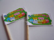 20 CUPCAKE FLAGS/TOPPERS - BALAMORY CHILDRENS BIRTHDAY PARTY